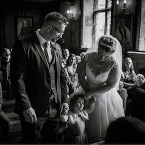 St Edmund Hall wedding, Steph & Pero
